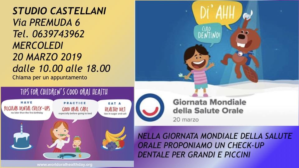 Giornata mondiale della salute orale 20 Marzo 2019